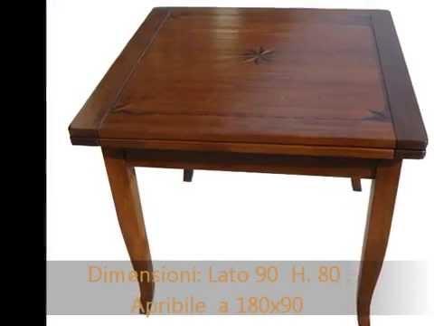 Tavolo tavoli quadrati rettangolari apribili allungabili for Tavoli rettangolari allungabili in legno