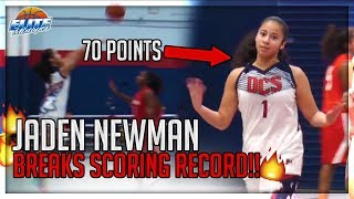 70 POINTS!! Jaden Newman Hits 17 3's & Breaks Scoring Record