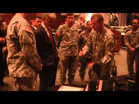 Secretary of the Army John McHugh visits Picatinny Arsenal