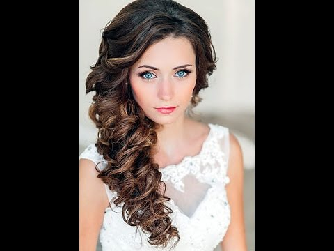 свадебные прически волосы на бок фото