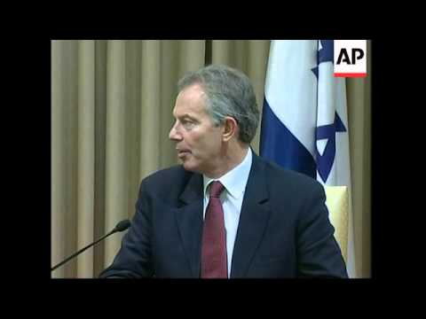 Quartet envoy Blair meets Peres, ADDS meeting Barak