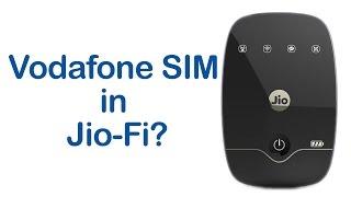 Trying a Vodafone SIM in Jio-Fi 2