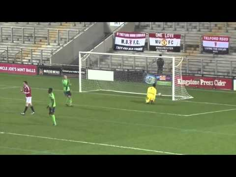 Adnan Januzaj goal from 25 yards on his return to Manchester United U21[FootballMinute]