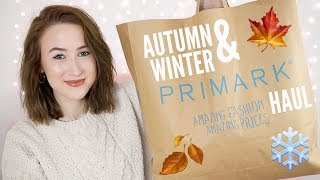 AUTUMN & WINTER PRIMARK HAUL 2018 (TRY ON) | Sophie Louise