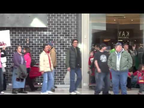 #IdleNoMore Flash Mob Round Dance at Grand Traverse Mall, Traverse City MI