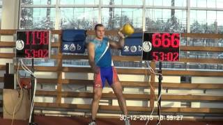 Happy New Year from Ivan Denisov! 2016 reps in 16 kg snatch 1 arm switch