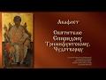 Акафист Святителю Спиридону Тримифунтскому Чудотворцу с текстом mp3