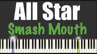 download lagu All Star - Smash Mouth - Piano Tutorial Synthesia gratis