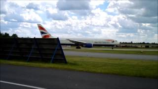 BOEING 767 BRITISH AIRWAYS Warsaw Chopin Airport TAKE OFF 27 06 2014