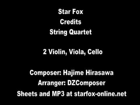 Star Fox SNES Theme for String Quartet (Sheet Music Available)