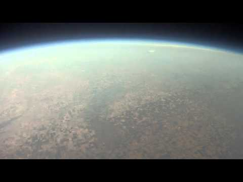 100,000 ft. from a weather balloon