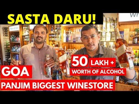 GOA VLOG | PANJIM BIGGEST WINESTORE | 10 LAKH + WORTH ALCOHOL | GOA AFTER LOCKDOWN (HINDI / ENGLISH)