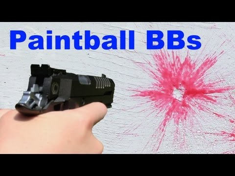 6mm Airsoft Paintball BBs Shooting/Review