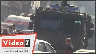 مدرعات الأمن تمنع عناصر الإخوان من التجمع أمام مسجد حمزة بعين شمس