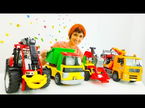Видео для детей. Большие машины в детском саду. Капуки Кануки Маша новые серии