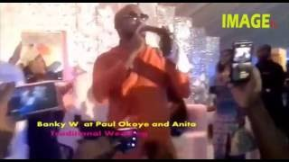 Banky.W  at Paul Okoye and Anita Traditional Wedding