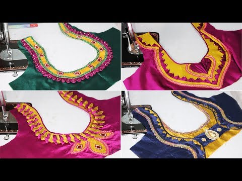 Top 20 Most Trending Stylish Back Neck Blouse Designs Catalog with Links on Description