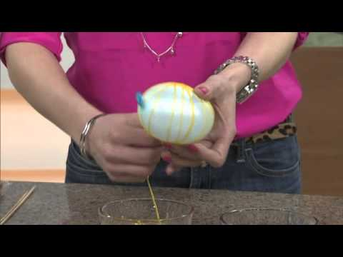 DIY string eggs and papier mache nest