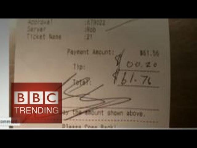 Check shaming churlish customers - #BBCTrending