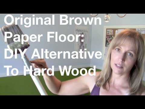 Brown Paper Floor: Do-It-Yourself Alternative To Hard Wood Floor