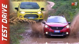 NEW FORD ECOSPORT 2017 VS PEUGEOT 2008 2017 - FIRST TEST DRIVE - ENG ITA SUB