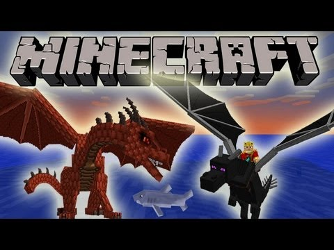 Minecraft 1.7 SnapShot: Dragon Pets. Red Dragon. Taming Dragons!