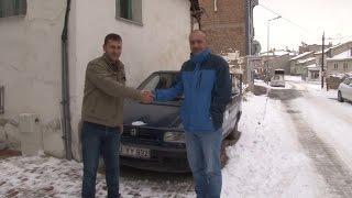 Haleplilere yardım için aracını sattı