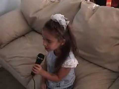 5 year old sings Lips of an Angel