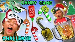 HOLIDAY CANDYCANES FLAVOR CHALLENGE! Smoothie Mix FUNnel Vision Taste Test Fun