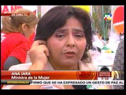 Ministra de la Mujer Ana Jara en vivo en ATV Noticias-04-04-2012