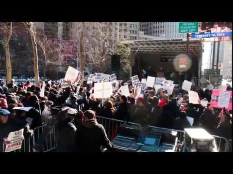 NYC School Bus Strike Sunday Rally - Ydanis Rodriguez
