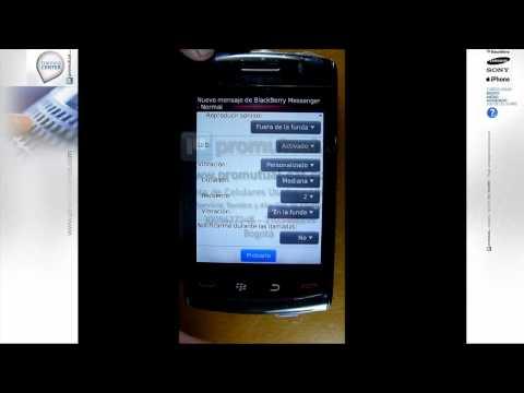 Como configurar perfiles. sonidos y alertas en BlackBerry Curve 8520. 9300. 9700 y otras