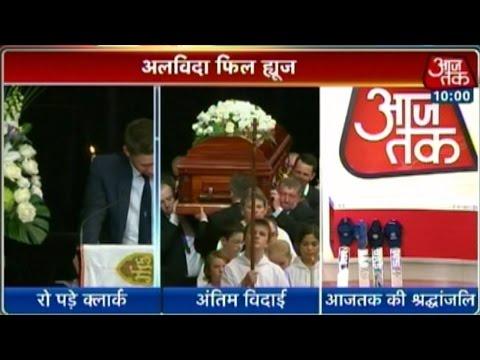 Michael Clarke breaks down at Phil Hughes's funeral