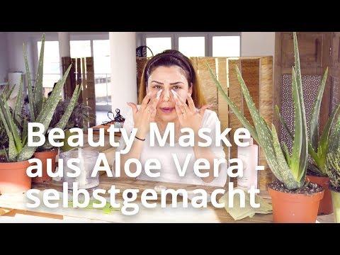 Aloe Vera Gel für das Gesicht - DIY Beauty mit Pflanzen - Anti-Aging Naturkosmetik Maske