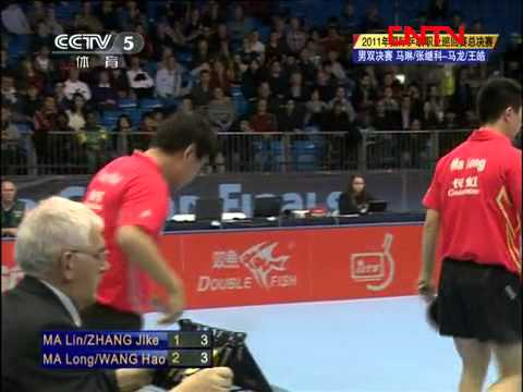 2011 Grand Finals (md-f) MA Lin / ZHANG Jike - MA Long / WANG Hao [Full 1/4]