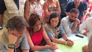 Susana Díaz en el Puesto de Mando Avanzado / Infoca