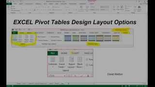 EXCEL Pivot Table Design Options