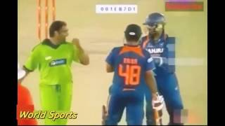 The best fights in cricket history ever between India and Pakistan | must watch