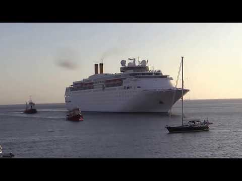 costa classica docks in Rhodes timelapse