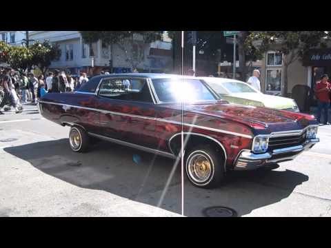 Lowrider Cars Sunday Streets Mission District San Francisco California June 2012
