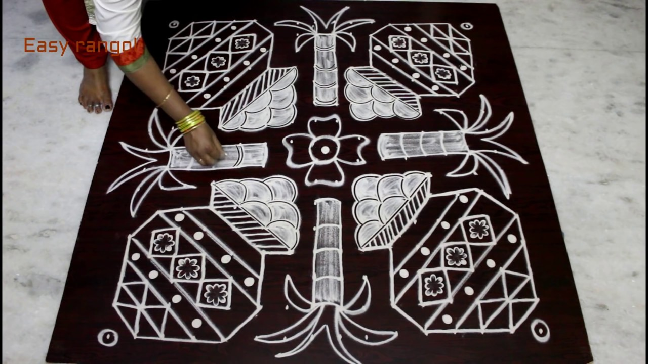 Easy rangoli designs for Bhogi