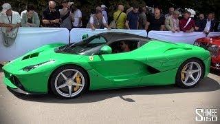 Jay Kay's Bright Green Ferrari LaFerrari (Jamiroquai)