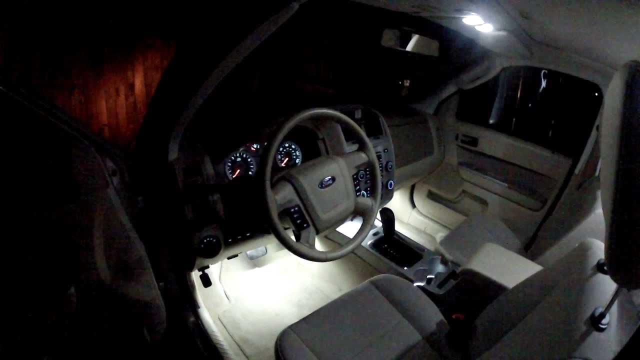 2011 Ford Escape Custom Ambient Lighting YouTube