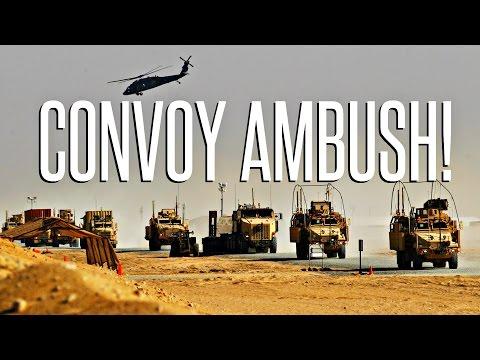 ARMED CONVOY AMBUSH! - ArmA 3