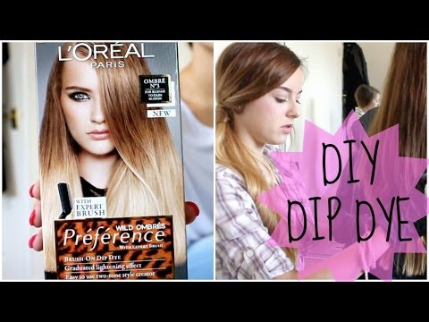 HOW TO | DIY NATURAL HAIR DIP DYE OMBRE