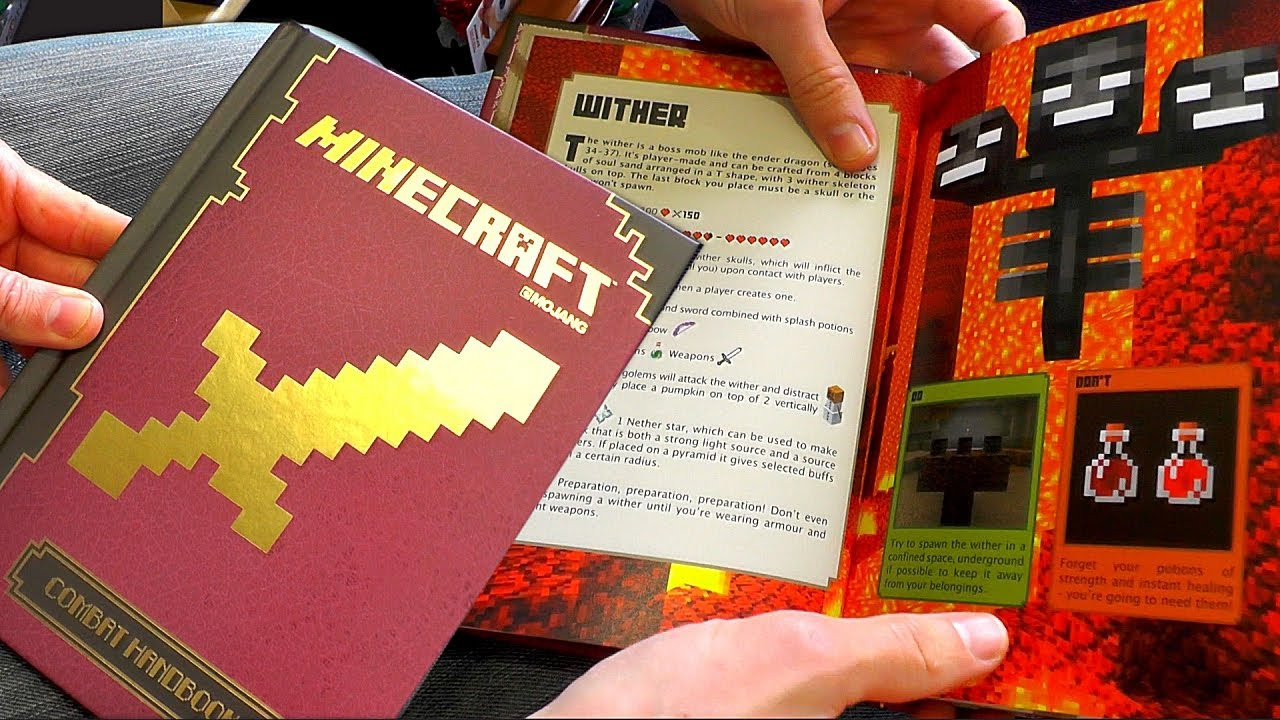 Minecraft Combat Handbook Guide Book Review - YouTube