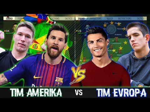 TIM EVROPA vs TIM AMERIKA! | FIFA 18 CHALLENGE !!
