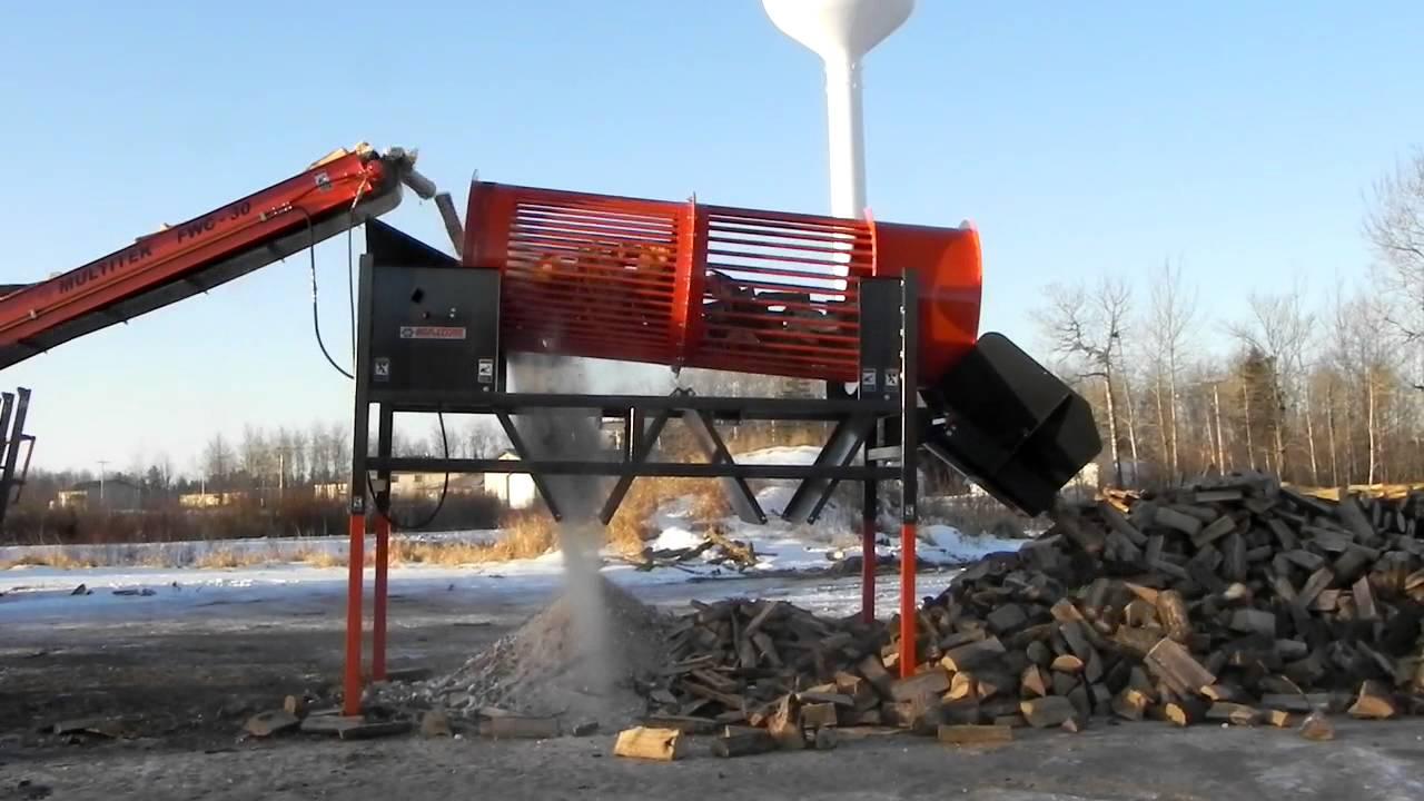Conveyor Belt For Sale >> Sweet Multitek Firewood Tumbler 1248 With Super Duty FWC30 Belt Conveyor - YouTube