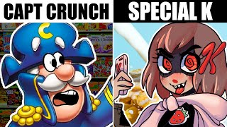 IF BORING CEREALS HAD CARTOON MASCOTS