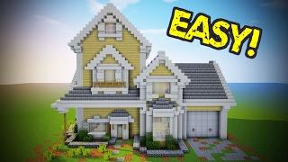 Minecraft - Suburban House Tutorial (Minecraft House)